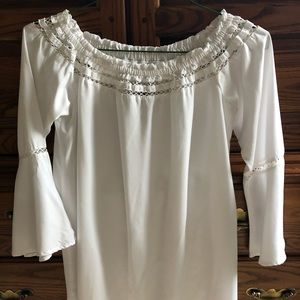 🔥Sexy Walter Baker Off Shoulder White Top 🔥